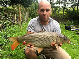 Andrew Anderson with one of Jimmys pool carp