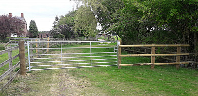 Rudheath go through the gate and park up