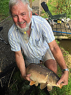 Ned Spencer with a nice carp at Jimmys pool