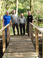Phil Williams, Ivan Greenman, Pete Merry and Neil Edge at Valley Bridge